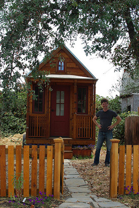 tiny house and garden